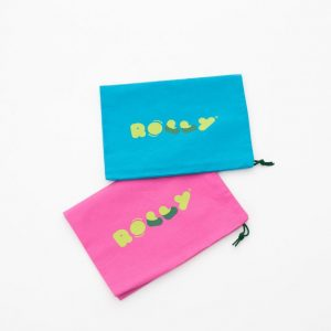 Rolly bag vrečka za copate roza modra