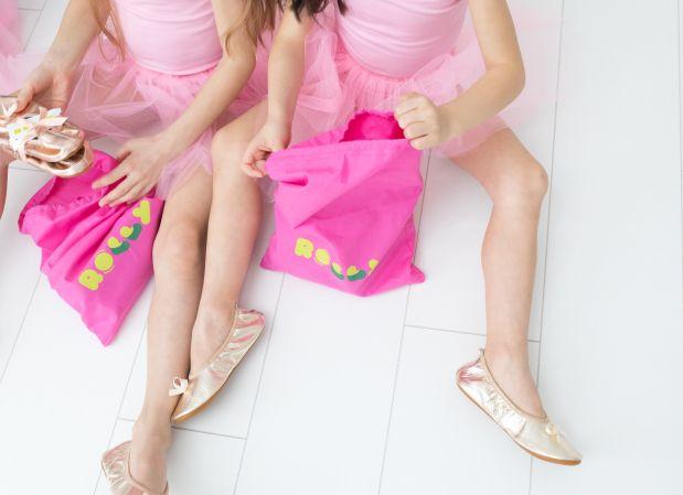 Rolly bag roza vrečke za copate