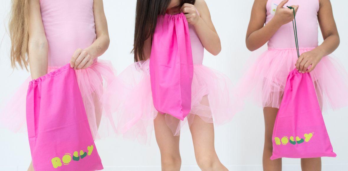 Rolly bag vrečke za šolske copate roza