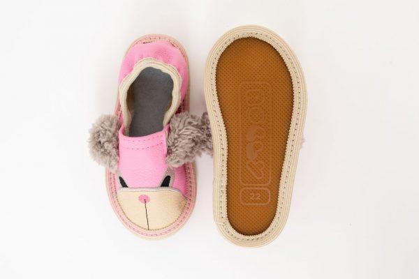 Rolly copati toddler teddy bears za vrtec roza deklice podplat