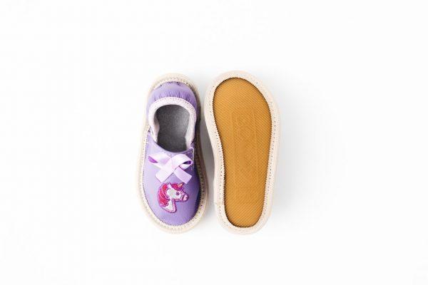 Toddler unicorn rolly copati za vrtec nedrseč podplat deklice